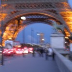 Tour Eiffel Base with Camera Effects, Paris, France