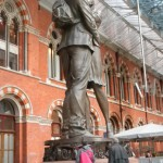 Wartime Statue, St. Pancras Station, London