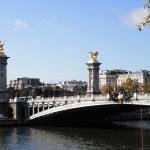 Pont Alexandre III, Paris - After Crossing (near where sat down)