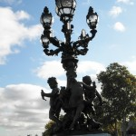 Lamp on Pont Alexandre III, Paris