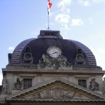Ecole Militaire by Day - Clock Display at top, Paris