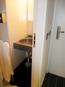 Idea Hotel, Milan - (If you look closely, you can see the key card in the slot by the light switch)