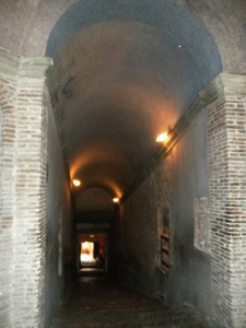 Castel Sant'Angelo Inner Tunnel/Stairway, Rome, Italy