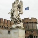 Castel Sant'Angelo Statue/Bastion, Rome, Italy