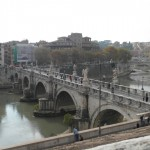 Bridge over the River Tiber to Castel Sant'Angelo, Rome, Italy