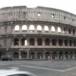 Colosseum - From the corner heading to the hotel from Metro Station, Rome