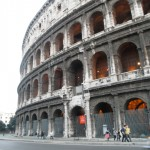 Colosseum - In passing as I head to the hotel from Metro Station, Rome