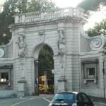 Portale ricomposto di villa Giustiniani alla via Flaminia (entry to Villa Celimontana)